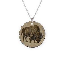 Vintage Bison Necklace