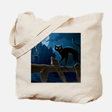 Black Cat, Halloween, Tote Bag