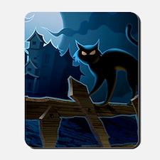 Black Cat, Halloween, Mousepad