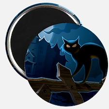 Black Cat, Halloween, Magnet