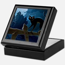Black Cat, Halloween, Keepsake Box