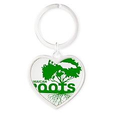 Jamaican Roots Heart Keychain