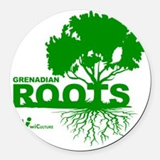 Grenadian Roots Round Car Magnet