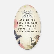 Vintage_Chick The Love You Make Oval Car Magnet