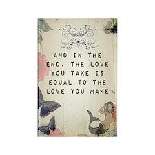 Vintage_Chick The Love You Make Rectangle Magnet