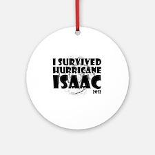 HurricaneIsaac-white Round Ornament