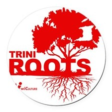 Trini Roots Round Car Magnet