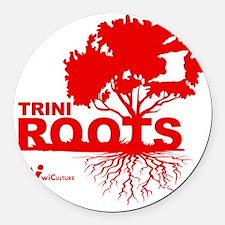 Trini Roots Round Car Magnet