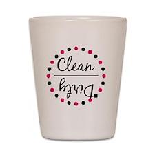 Dishwasher Magnet - Pink and Black Shot Glass