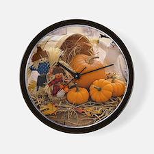 Fall Season Wall Clock