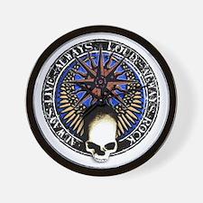 pentagram devil rock skull Wall Clock