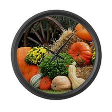 Pumpkins, Fall Themed, Large Wall Clock