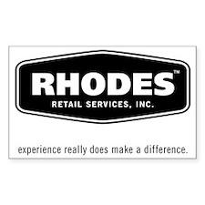 Rhodes Retail Logo Decal