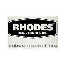 Rhodes Retail Logo Rectangle Magnet