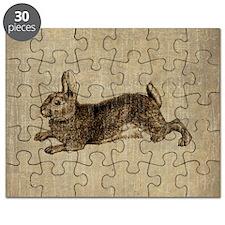 Vintage Rabbit Puzzle