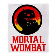 Mortal Wombat Throw Blanket
