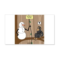 Snowman of the Apes Wall Decal
