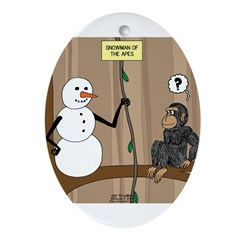 Snowman of the Apes Ornament (Oval)