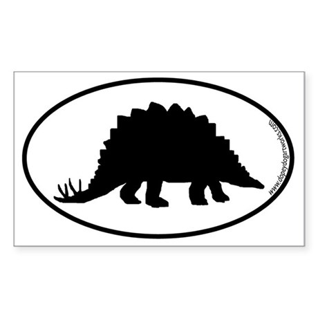 Dinosaur Stegosaurus SILHOUETT Sticker (Rectangle)