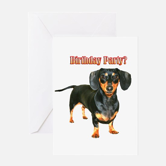 Lily Dachshund Dogs Here Greeting Cards