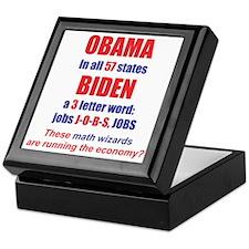 OBAMA IN ALL 57 STATES Keepsake Box