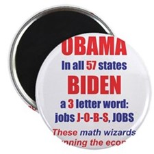 OBAMA IN ALL 57 STATES Magnet