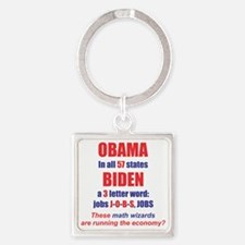 OBAMA IN ALL 57 STATES Square Keychain