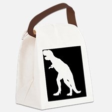 Dinosaur T-Rex SILHOUETTE Canvas Lunch Bag