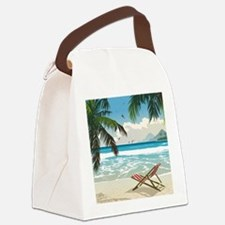 Day at the Beach Canvas Lunch Bag