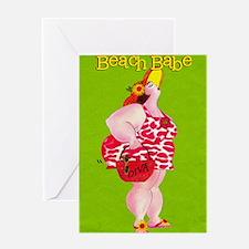 Beach Babe Greeting Card