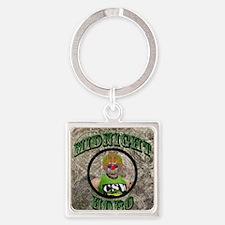 Midnight Hobo Square Keychain