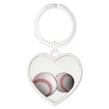 Got Balls? Baseball Heart Keychain