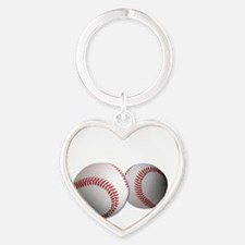 Got Balls? Baseball Heart Keychain