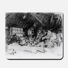 The smithy - Whistler - c1880 Mousepad