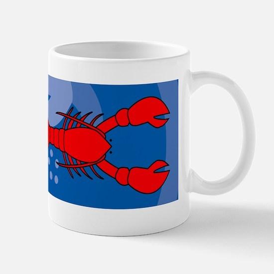 Lobster 36x11 Wall Decal Mug