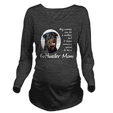 Rottie Mom Long Sleeve Maternity T-Shirt
