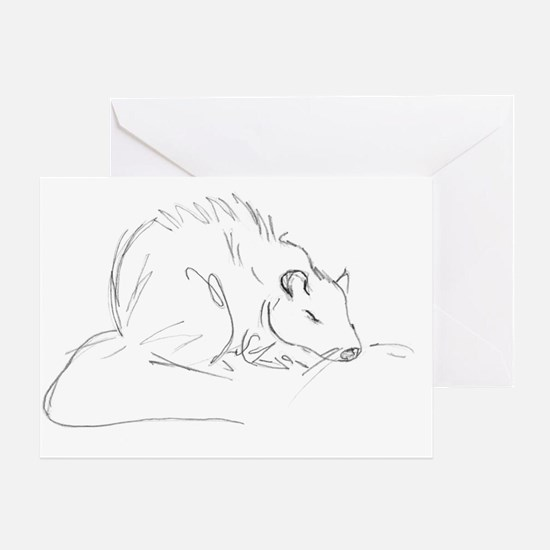 Sketch Rat Greeting Card