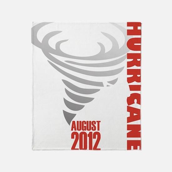 Hurricane Isaac 2012 Throw Blanket