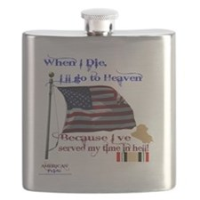 When I Die... Iraq Flask