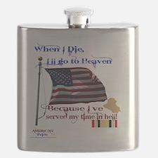 When I Die... Iraq Flask