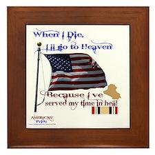 When I Die... Iraq Framed Tile