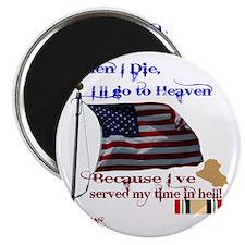 When I Die... Iraq Magnet