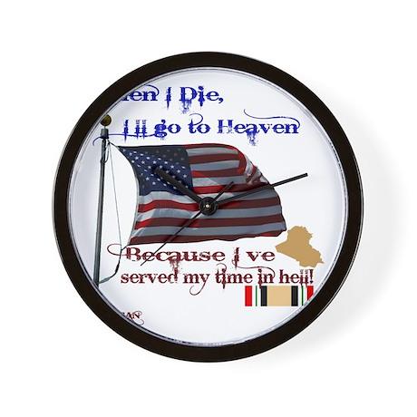 When I Die... Iraq Wall Clock