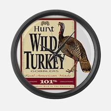 Hunt Wild Turkey Large Wall Clock