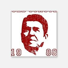 "Old School Conservative Square Sticker 3"" x 3"""