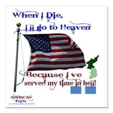 "When I Die... Korea Square Car Magnet 3"" x 3"""