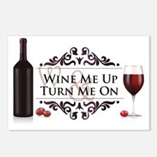 Wine Me Up and Turn Me On Postcards (Package of 8)