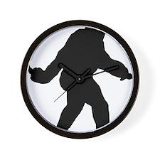 Bigfoot Flips The Bird Wall Clock