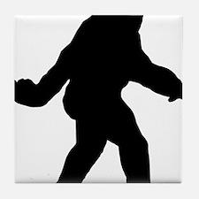 Bigfoot Flips The Bird Tile Coaster