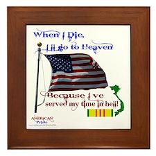 When I Die... Vietnam Framed Tile